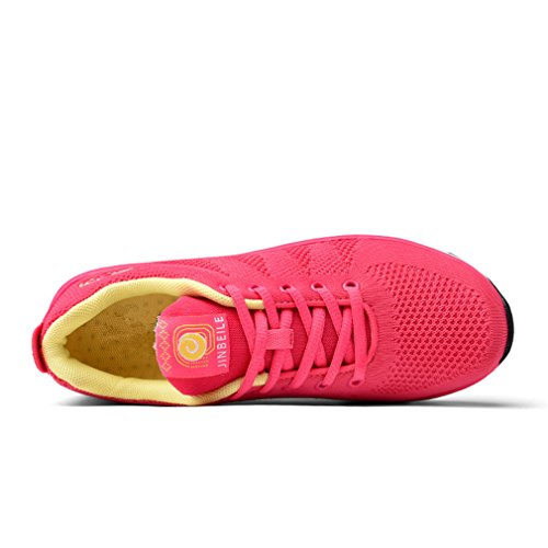 Cushioning Running Shoes Lightweight ALL Mesh Cushioning Breathable Traveling Sneakers Red P7V6sORMgE