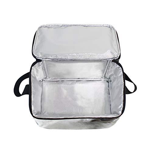 pour Sac Animal Cooler lunch déjeuner Boîte aquarelle Cheval à Bandoulière Portrait blanc à nique pique wwS8Aaq