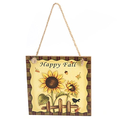 Thanksgiving Door Decorations Happy Fall   Plaque Sign Harvest
