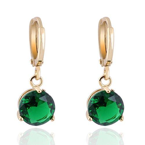 Crystal 18k Gold Plated Earrings Stud Women Dangle earrings for girlsGs0461 (GS0461-3)