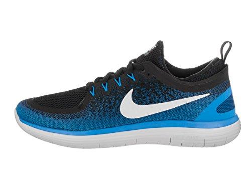 Nike Mens Free Rn Distance 2 Armory Azul marino / blanco / negro para correr 14 hombres US