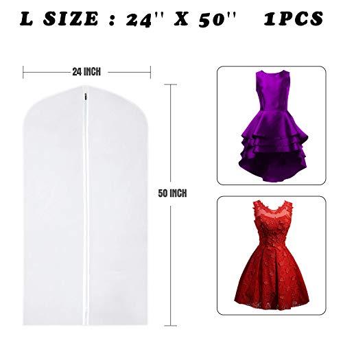 4031695489e Wallaby Pack of 5 PEVA Garment Bag