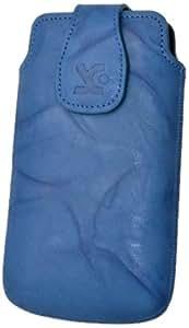 Suncase - Funda de cuero con cierre magnético para HTC Sensation XL, color azul