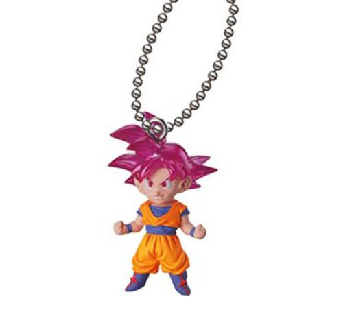 amazon com dragon ball z ultimate deformed mascot the best04 figure keychain 1 75 super saiyan god goku toys games