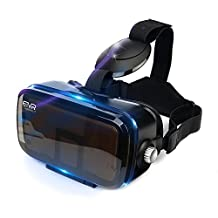 More Lighter More Comfort - ETVR Upgraded 3D VR Virtual Reality Headset Immersive Large Screen Experience VR Headset Fit For iPhone 7s/7/6s/6 Plus/LG/Samsung Galaxy etc Smartphones (4.7-6.2 Inches)
