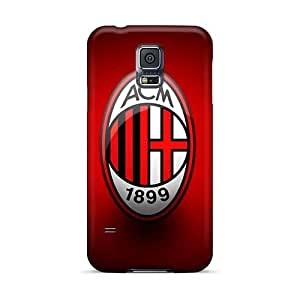 High Quality Hard Phone Covers For Samsung Galaxy S5 (wWc2617NLlo) Unique Design Colorful Ac Milan 1 Image