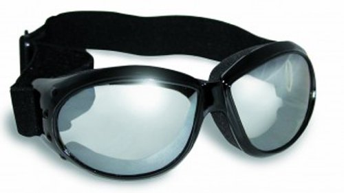 Global Vision Eyewear Eliminator Goggles with Micro-Fiber Pouch, Clear Mirror (Goggles Eyewear)