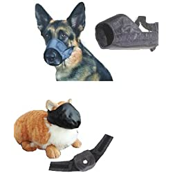12 Pack Dog and Cat Grooming Muzzles, Groomers Muzzle Set by Downtown Pet Supply