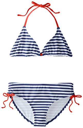 Kanu Surf Big Girls' Bali Bikini Swimsuit, Navy, 10