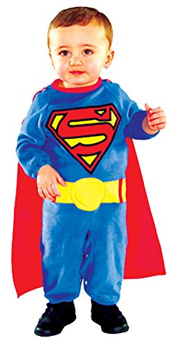 Superman Newborn Costumes (UHC Superman Dc Comics Superhero Outfit Infant Toddler Halloween Costume, 0-6M)