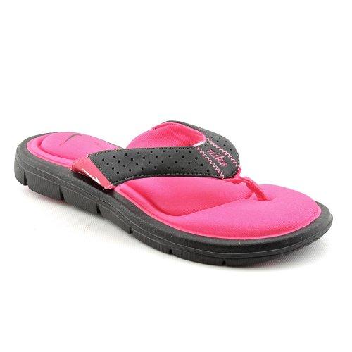Womens Nike Comfort Thong Black / Vivid Pink / White 7