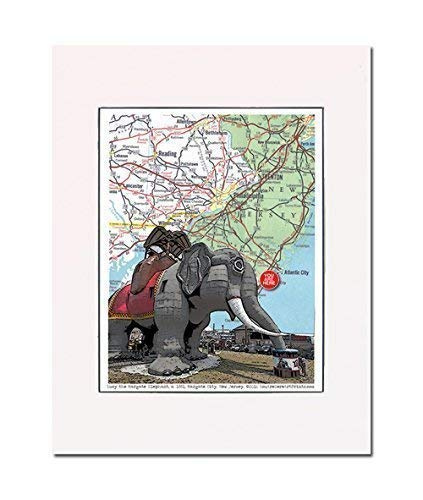 Lucy the Margate Elephant, New Jersey, roadside attraction, art print, enhance your home or office. Gallery quality. Matted and ready-to-frame.