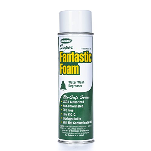 ComStar 55-221 Super Fantastic Foam- Powerful Concentrated Degreaser Aerosol, 20 oz, White