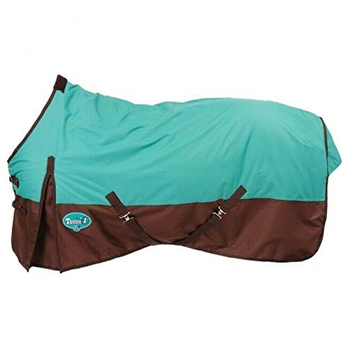 Tough 1 600 Denier Waterproof Horse Sheet, Turquoise/Brown, 75-Inch