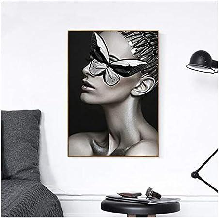 NIESHUIJING Imprimir en Lienzo Fotografía nórdica Moderna Decorativa Creativa de la Figura de la Mariposa Argentina para la decoración de la habitación 23,6