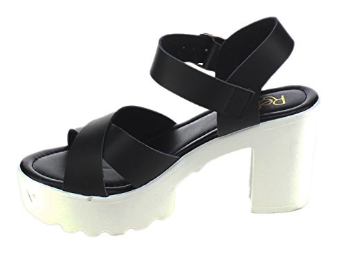 Chunky Platform Women's 07 Refresh Sandal Black Gaga pS61qyB