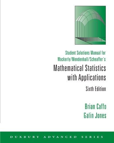 Wackerly mathematical statistics solutions manual