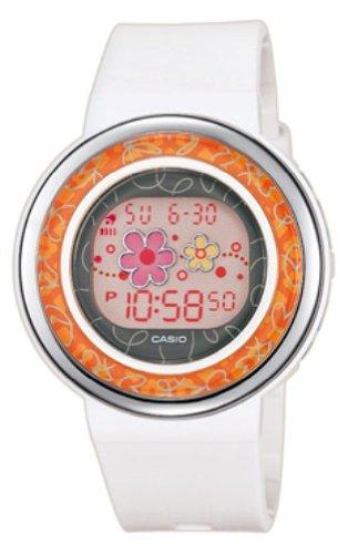 CASIO LDF-31-7BEF - Reloj digital de cuarzo con correa de resina para mujer, color blanco: Amazon.es: Relojes