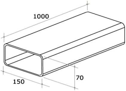 Tubo rectangular Aire Campana extractora 150 x 70 x 1000 mm plástico blanca Grifería F 116: Amazon.es: Hogar