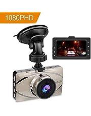 Camara de Coche para Auto Grabadora DVR Dash Cam Full HD 1080P Con Pantalla 3.0 Pulgadas ,monitor de estacionamiento ,G-sensor ,Vision Nocturna ,detección de movimiento,WDR,grabación en bucle,170 Grados de Gran Angular