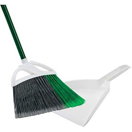 Libman Commercial 248 Large Precision Angle Broom & 10'' Dustpan - Lot of 4 by Libman