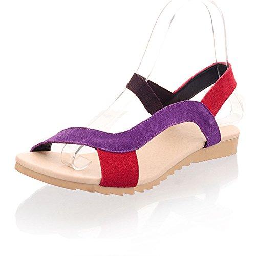 Shoes 9 Red Women Beach Flats Black Size vovmi Fisherman Slippers 10 wxfXqX8U