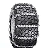 Snow Tire Chains for ATV, Snow Blower / Thrower 2 Link 4.10 x 3.50 x 6