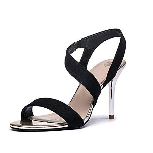 c897541f Nuevo NAN Zapatos de mujer verano roma correa de tobillo sandalias de tacón  alto atractivo y ...