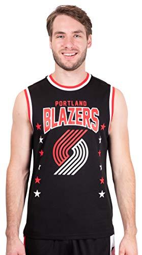 NBA Portland Trail Blazers Ultra Game Men's POLY AIR MESH MUSCLE TANK, Black, XX Large (Portland Trailblazers Tank Top)