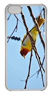 Customized iphone 5C PC Transparent Case - Yellow Bird Personalized Cover