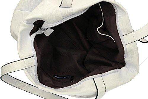 Tasche damen schulter PIERRE CARDIN weiß ffnung zip VN1196