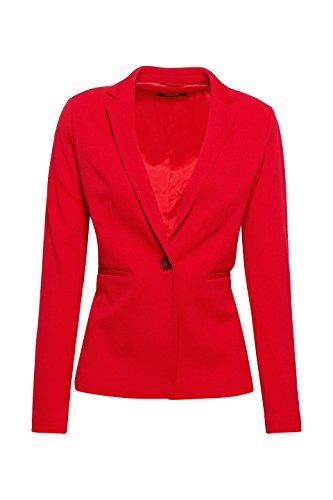 ESPRIT Collection Damen Anzugjacke 018EO1G003, Rot (Berry Red 625), 34