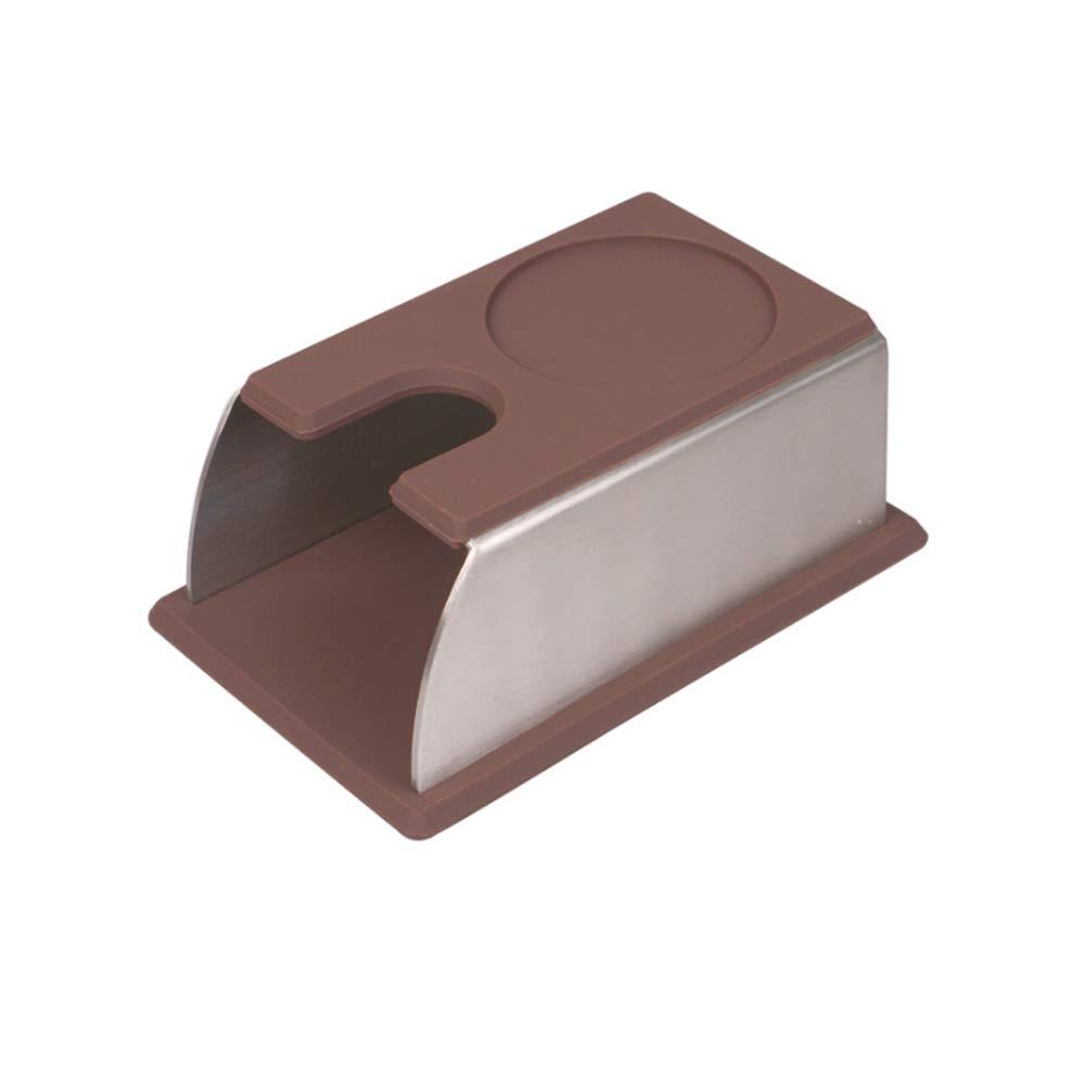 EFGS Tamping Pad, Coffee Tamper Stainless Steel Tamping Table, Suitable Coffee Machine Coffee Tamper Storage Base