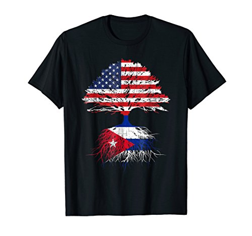 Cuban American Shirt Cuba Flag Roots Gift Men Women Kids