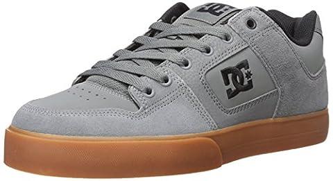 DC Men's Pure Skate Shoe, Grey/Gum, 8 M US
