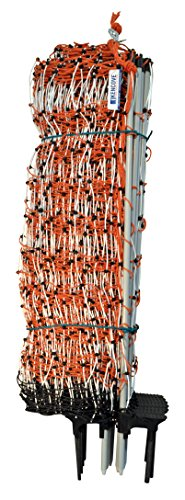 """Spacing Aluminum Fence - Kencove Electric Net Fence, 28"""" Height x 164' Length, 10 Horizontal Lines, 3 ½"""" Vertical Line Spacing, Orange"""