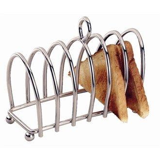 soporte para tostadas de acero inoxidable con asa Deluxe Heavy Duty 6/piezas