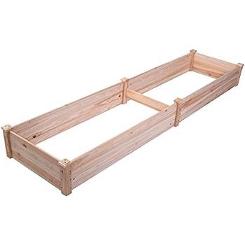 "Giantex Wooden Raised Vegetable Garden Bed Elevated Planter Kit Grow Gardening Vegetable (96""X24""X10"")"