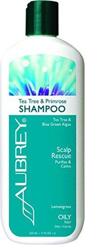 Aubrey Organics Tea Tree & Primrose Shampoo - Natural Dandruff Alternative & Sulfate Free - 16oz (Daily Primrose Shampoo)