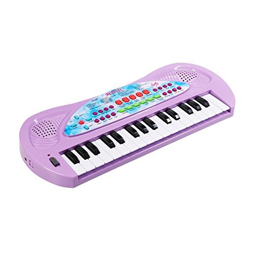 aPerfectLife Piano for Kids, 32 Keys Multifunction Electronic Kids Piano Keyboard Musial Instrument for Kids Children with Microphone (Purple)