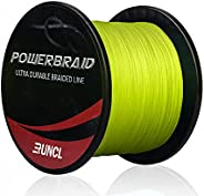 RUNCL PowerBraid Fishing Line 4/8/9 Strands, Braided Fishing Line 300/500/1000Yds - Seamless Weaving Tech, Enh