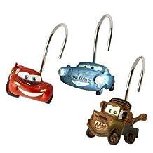 Disney Pixar Cars Set of 12 Shower Curtain Hooks by Jay Franco & Sons