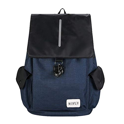 TSDBG205182 Shoulder Canvas Bags Casual Zippers Bags LightGray AalarDom Tote Women's Blue 7qO8w8
