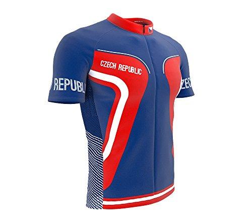 ScudoPro Czech Republic Full Zipper Bike Short Sleeve Cycling Jersey for Women - Size XL