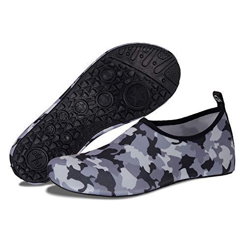 Pour Surf Séchage Natation Rapide Pieds Et Homme Chaussures Sport gray Camouflage À Aquatiques De D'eau Nus Femme Plage Plongée q6Baw7