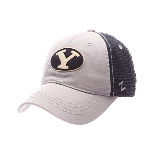 Zephyr NCAA Byu Cougars Adult Men Springtime Relaxed Cap,Adjustable,Gray