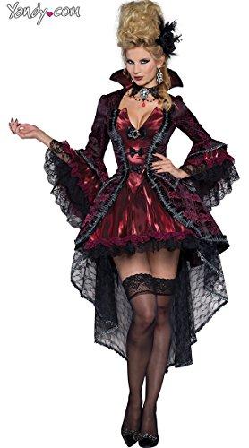 InCharacter Costumes Women's Victorian Vamp Vampiress Costume, Burgundy, Small