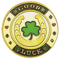 Da Vinci Hand Painted Poker Card Guard Protector, Good Luck - Poker Coin Card Guard