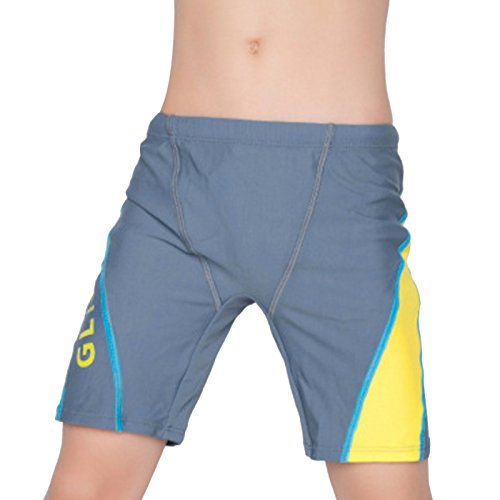Fitted Swim Boxer - Aivtalk Kids Boys Swim Short Quick Dry Strenchy Wasitband Pool Swimwear Boxer Shorts 6-7 Y Grey