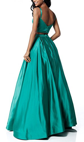 Women's Satin H Pockets Dresses with A Length Dearta Line Prom Beaded Floor Style dRAdfn
